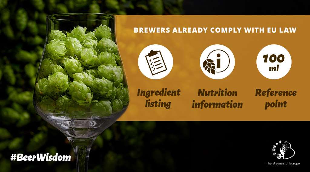 EU RULES ON LISTING INGREDIENTS AND NUTRITION INFORMATION SHOULD APPLY TO ALL ALCOHOLIC DRINKS