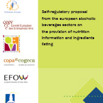 Self-regulatory proposal from the european alcoholic beverages sectors on the provision of nutrition information and ingredients listing